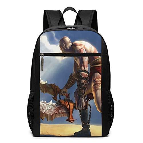 God Of War Mochila de viaje resistente al agua grande para ordenador portátil, mochila universitaria para mujeres y hombres, mochila de negocios