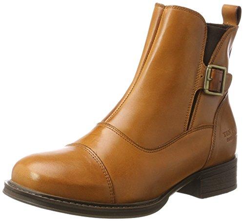 TEN POINTS Damen Pandora Biker Boots, Braun (Cognac), 37 EU