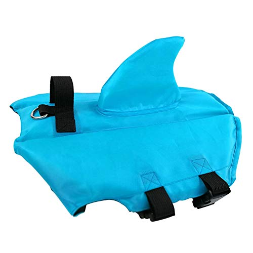 Dog Life Jacket For Swimming, Shark Fin Adjustable Jacket Clothing with Leash Ring Pet Life Vest Summer For French Bulldog Playing In The Sea Dog Swimming Clothes