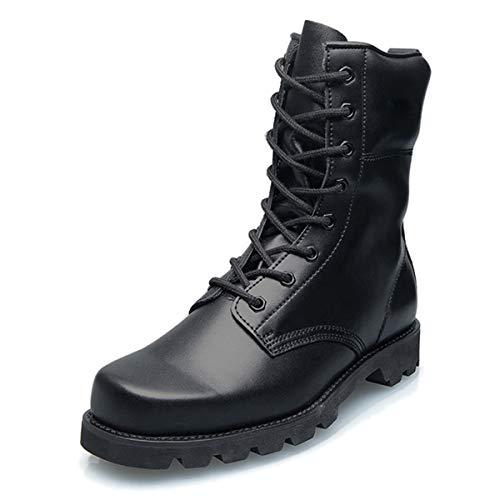 Botas de senderismo de combate militar de cuero para hombres Botas de trekking tácticas al aire libre antideslizantes y resistentes a los pinchazos otoño e invierno