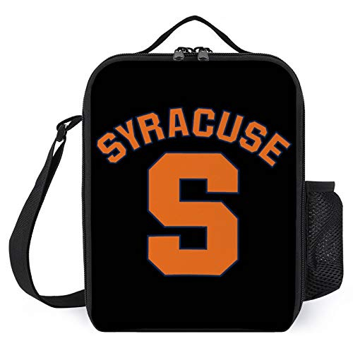 Syracuse University,Lunch Bag with Adjustable Strap Lunch Tote Bag for Work School Office Picnic Fishing- Insulated Lunch Bag for Women Men Adult