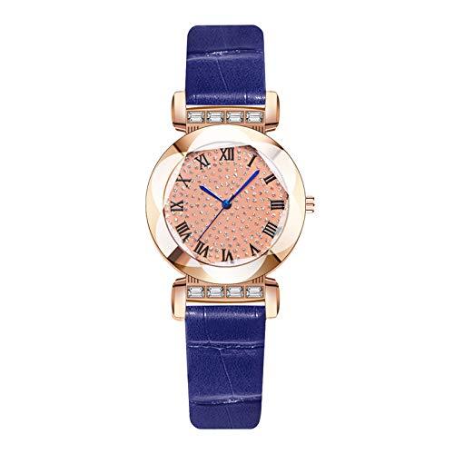 AxiBa Relógios Femininos Casuais Luxuosos Pulseira de Couro Analógico Moda Feminina, C