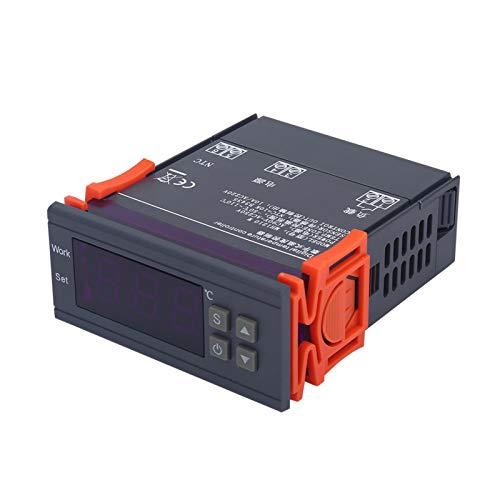 DAUERHAFT Termostato Digital para calefacción y refrigeración, Larga Vida útil, Mini 220 V, 10 A, Pantalla LCD, Inicio retardado, para refrigeradores