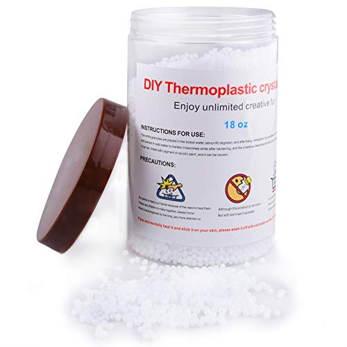 Moldable Plastic Thermoplastic Beads 18OZ Polymorph Plastic for DIY Repair Cosplay
