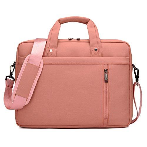 Multifunktional Laptop-Tasche Tragetasche Abdeckung Handtasche Schulter Hülle für Apple MacBook Air Samsung 12 13 14 15 15 6 17 Zoll Notebook-Pink_15 Zoll