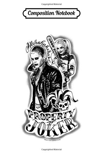 Composition Notebook: Suicide Squad Joker Harley Airbrush Tattoo All Over Print Harley Quinn Trending Dc Comics Journal/Notebook Blank Lined Ruled 6x9 100 Pages