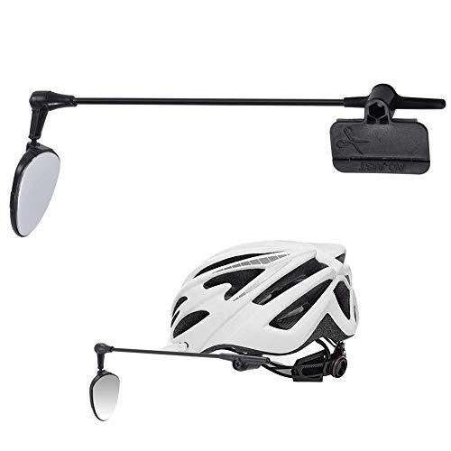 Kylewo Fahrradhelm Rückspiegel, Bike Safe Riding Mirror, 360-Grad drehbar Radfahren Fahrrad Motorrad Rückspiegel, flexibel reflektierende Flache Spiegel, für Mountain Road MTB Radfahren