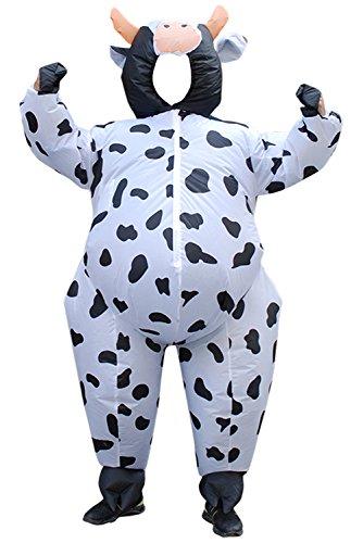Erwachsene Kühe Aufblasbares Kostüm Cosplay, Fasching Karneval Party Outfit