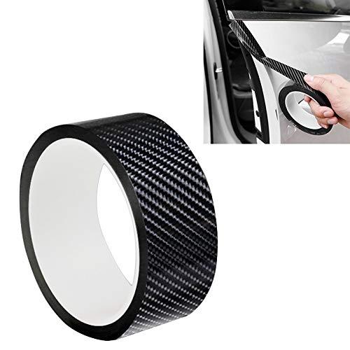 GANK TXV Fibra di Carbonio ATYC Universal Car Door anticollisione Strip Protection Protegge assetta Adesivi Nastro, Dimensioni: 3cm x 10m