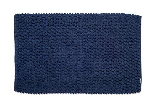 Croydex Professional Uni weiß Textil-Duschvorhang mit Hygiene 'N' Clean, Textil, Navy, 1 x 50 x 80 cm