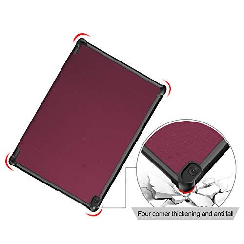 XITODA Hülle Kompatibel mit Lenovo Tab M10 TB-X605/TB-X505,PU Leder Tasche mit Stand Funktion Schutzhülle für Lenovo Tab M10 TB-X605F/L TB-X505F/L Case Cover,Rotwein