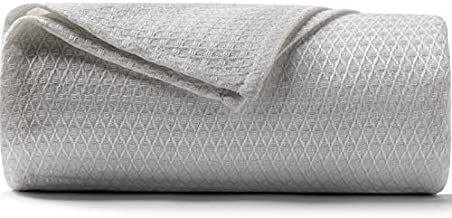 DANGTOP Cooling Blankets, Queen Size 100% Bamboo Blanket for All-Season, Cooling Blanket Absorbs Body Heat to Keep Cool on Warm Night, Ultra-Cool Lightweight Blanket for Bed (79x91 inches, Grey)