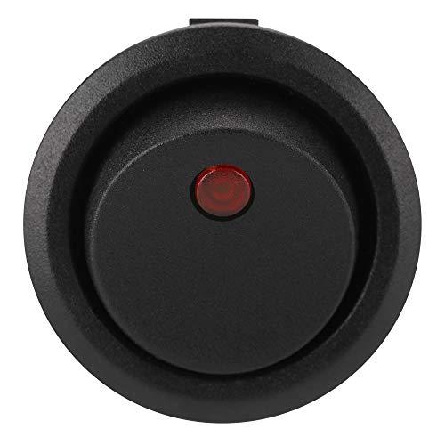 Interrupteur Rond D'Aramox, Interrupteur Rond électrique des Véhicules à Moteur de Spst Marche/Arrêt 12v pour la Lumière A de Bateau de Tableau de Bord de Van de Voiture