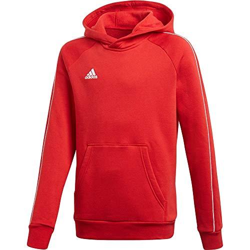 Adidas Core18 Hoody Sudadera con Capucha, Unisex Niños, Rojo (Rojo/Blanco), 5-6 años (Talla del Fabricante: 116)