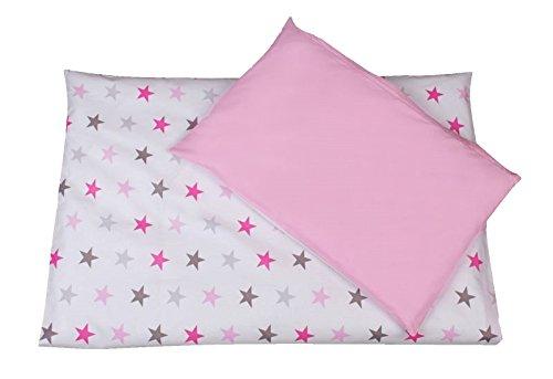 Baby Bettwäsche 2tlg. Stars BIG 135x100 + 40x60cm - Wendebettwäsche, Baumwollbettwäsche Sterne...