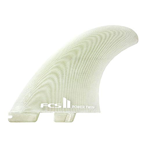 FCS II Power Twin Performance Glass Fin Set Clear X-Large