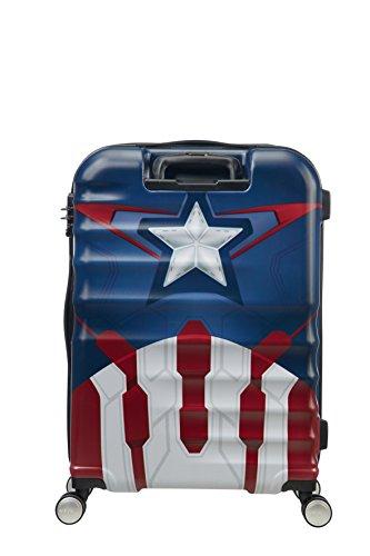 American Tourister - Disney Wavebreaker Spinner Marvel, 67cm, 64 Liter, Captain America Close-Up