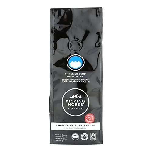Kicking Horse Three Sisters Medium Roast Coffee, 10 Ounce - 6 per case.