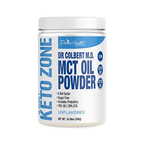 Dr. Colbert's Keto Zone MCT Oil Powder - Vegan - Unflavored - 300 Gram - 30 Servings