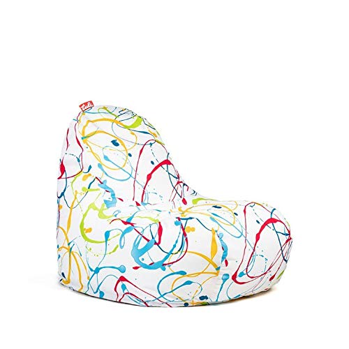 Tuli Relax Abnehmbarer Bezug - Polyester Gemustert Farbkleckser, Stoff, One Size