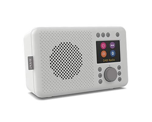 Pure Elan Connect All-In-One Internetradio mit DAB und Bluetooth 4.2 (DAB/DAB+ Digital Radio, UKW Radio, Internetradio, TFT Farbdisplay, 20 Senderspeicher, Batterie Betrieb möglich), Stone Grey