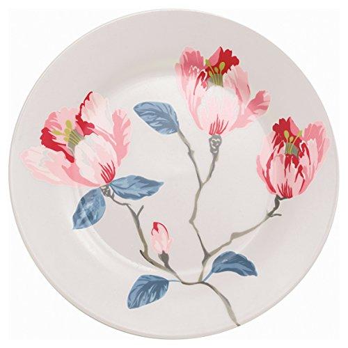 Greengate STWPLAMAG0106 Magnolia Assiette à Petit-déjeuner Blanc 21 cm