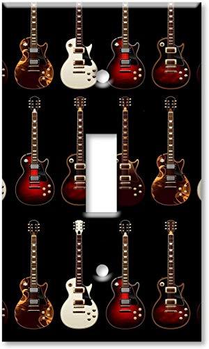 Light switch night light cover plateSingle Gang Toggle Switch/Wall Plate - Electric Guitars
