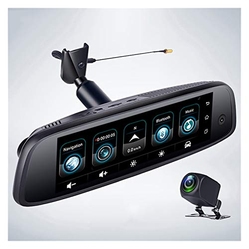 Flashing 4G Android 5.1 2GB + 32GB ADAS IPS DASHCAM 3 Cameras GPS WiFi Bluetooth FHD 1080P Coche Vista Trasera Espejo Grabador de Video DVR (Color : 32G, Size : 3 Camera)
