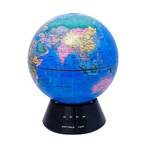 SYXZ Difusor de Aceite Esencial Globe, humidificador difusor de Aroma 7 Colores Luz Nocturna Apagado automático 4 Temporizador Apagado automático para el Dormitorio de la Oficina en casa,Azul