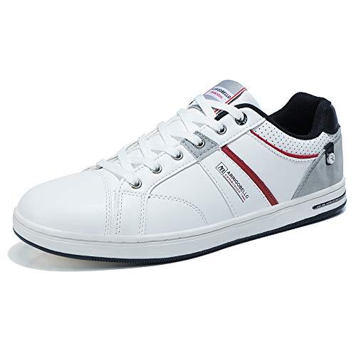 ARRIGO BELLO Zapatos Hombre Vestir Casual Deportivas Zapatillas Sneakers Caminar Correr Deportivas Gimnasio Moda cómodo Viajar Talla 41-46 (Blanco, Numeric_41)