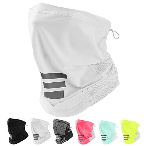 LANVO UV Protection Neck Gaiter, Adjustable Cooling Neck Gaiter for Men and Women, Dust Mask Bandana for Outdoor Running, Hiking, Cycling