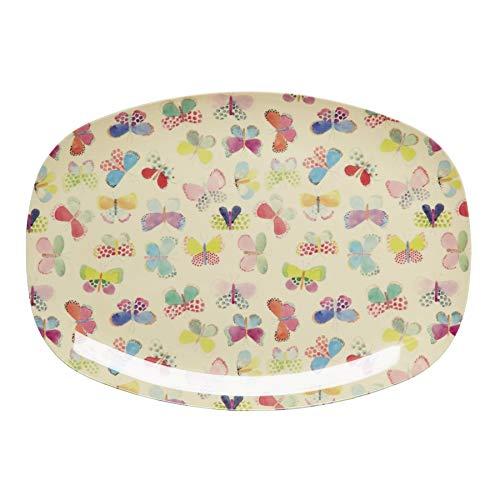 Melamin-Platte Butterfly Print