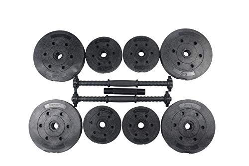 Athlyt - Juego de pesas de 25 kg, negro