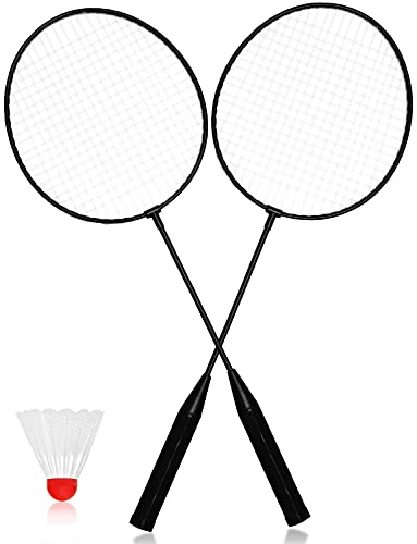 L + H WORLD XXL Federball & Badminton Set | Federballschläger in gemischten Farben inkl. Federball im Set | Federballspiel für Erwachsene & Kinder ideal für Freizeit & Outdoor Spiele
