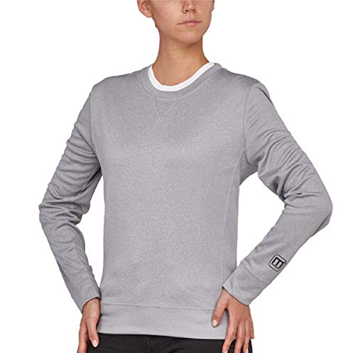 Macseis Proforce Roundneck Creator Sweat, POWERDRY, Female, Stone Grey Melange