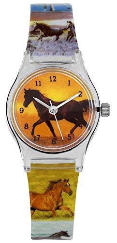 Pacific Time Mädchen Uhr Analog Quarz mit Kunststoffarmband 20335