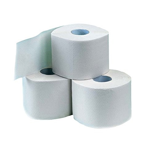Toilettenpapier hochweiß, 3-lagig, 250 Blatt pro Rolle, 72 Rollen - Klopapier WC Papier