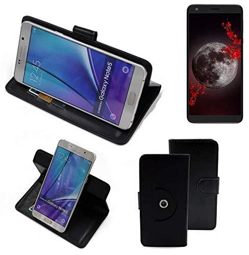 K-S-Trade® Handy Hülle Für Sharp Aquos B10 Flipcase Smartphone Cover Handy Schutz Bookstyle Schwarz (1x)