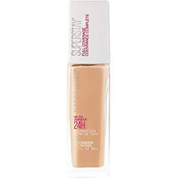 Maybelline New York Super Stay 24H Full Coverage Liquid Foundation, Warm Nude 128, 30ml