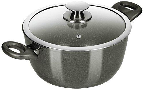 Genius 24546 Pot, Céramique, Noir, 24 cm