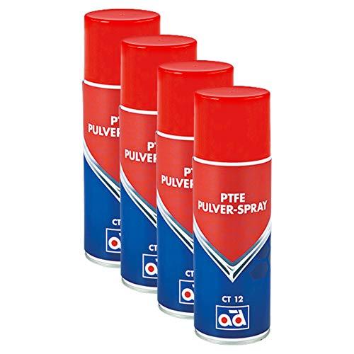 AD Chemie 4X PTFE-Spray Ct 12 400ml Trocken Spraydose Spray Teflon Auto PTFE Teflonspray Fett Druckluft Schmiermittel Kältespray Rostschutz Trockenschmierstoff 406051720