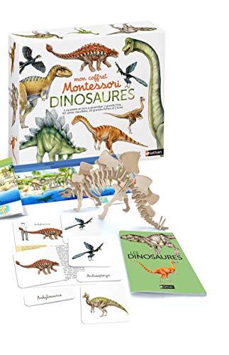 Mon coffret Montessori Dinosaures : Avec 1 squelette en bois à assembler,...