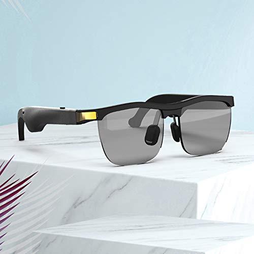 ORPERSIST Gafas Espias, Gafas Sol Polarizadas Voz Inteligente Reproducir Música Conexión Bluetooth Batería de Larga Duración, Gafas Bluetooth para Conducir Ciclismo Viaje