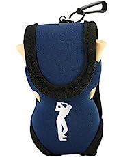 Alomejor Porta Pelotas de Golf Utilidad de Tela Cintura Bolsa 2 Pelotas de Golf 4 Tees de Golf Deportes Accesorios de Golf
