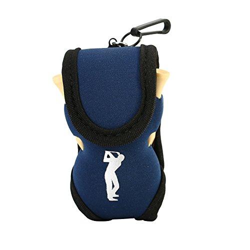 Alomejor Golfballhalter Gebrauchsstoff Taille Beutel mit 2 Golfbälle+4 Golf Tees Sport Golf Zubehör(Blau)
