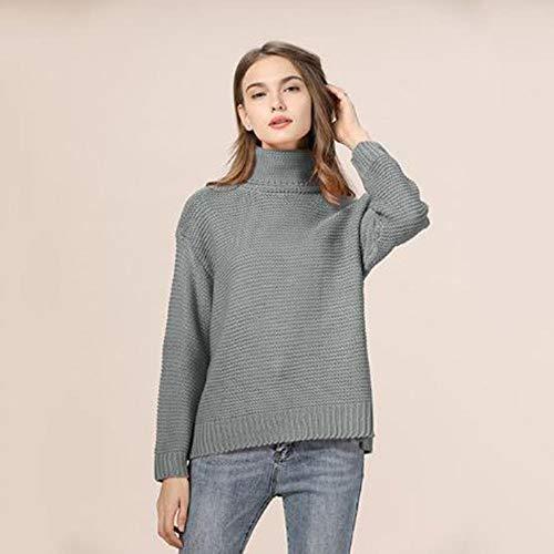 XXYQ Truien Herfst Winter Coltrui Pullover Vrouwen Gebreide Trui Plus Size Dikke Warm Lange Mouw Vrouwen Trui Pullover Kleding Femme