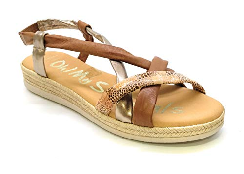 Oh! my Sandals 4665 Pieles combinadas Roble