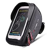 Borsa da Manubrio Bici, XPhonew Top Tubo Borsa, Bicicletta della Bicicletta Telaio Borsa del Supporto di Montaggio per iPhone XR XS Max X 8 7 6 6S Plus Samsung Sony LG Smartphones up to 6 Pollice