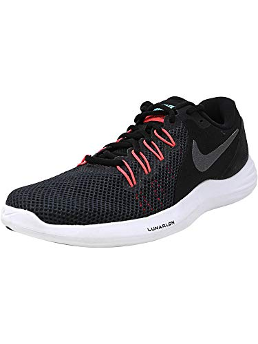 Nike Women's Lunar Apparent Black/Metallic Dark Grey - Solar Red Ankle-High Sneaker 7.5M