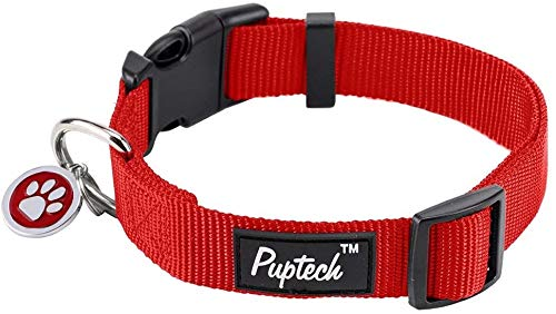 Nylon Puppy Adjustable Collars for Small Dogs with ID Tag XS 7.5